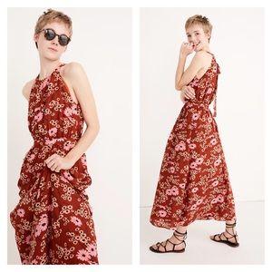 Madewell Halter Dress in Hillside Daisies